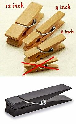 GIANT JUMBO CLOTHESPIN 3 SIZES 2 STYLES for PHOTOS ADVERTISING DISPLAY PROPCARDS
