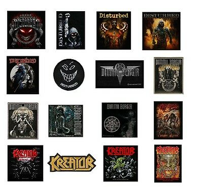 # DISTURBED dimmu borgir KREATOR - official SEW ON PATCH patches logo metal