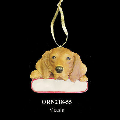 Vizsla Christmas Dog Ornament Santa's Pals Personalized Name Plate #55