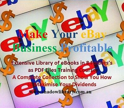 EBAY - 8 Business Training Courses  in Set - Hundreds of Books & Articles on DVD