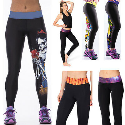 New Lady Leggings Fitness Jogging Trousers Woman Yoga Gym Running Sports Pants