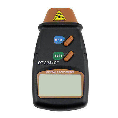 New Digital Laser Photo Tachometer Non Contact RPM Tach 0+