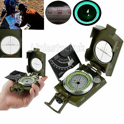 Professional Military Army Metal Sighting Compass Clinometer for Camping Hiking
