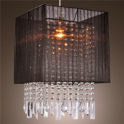 Mini Drum Shape Crystal Chandelier Ceiling Lamp Flush Mount Pendant Lighting HOT