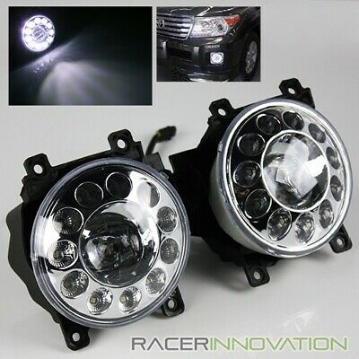 For 2013-2015 Toyota Rav4/Land Cruiser LED Halo Ring Projector Fog Lights Lamps