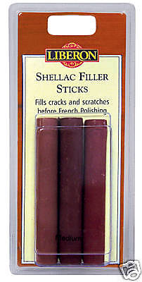 Liberon Shellac Filler Sticks Pk 3 Dark
