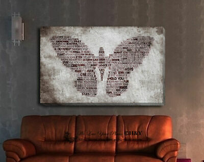 Abstract Butterfly Stretched Canvas Prints Framed Wall Art Home Decor Painting