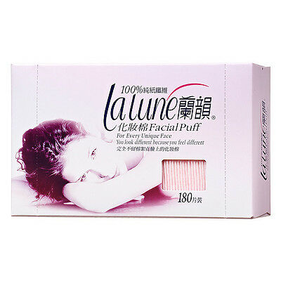 [LALUNE] 100% Cotton Facial Makeup Puff 180 sheets NEW