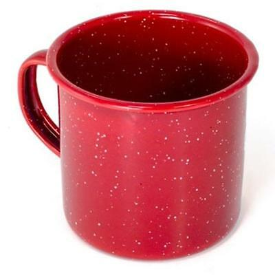 GSI Outdoor Red Enamelware 24oz Coffee Beverage Cup Mug Camping Hunting Fishing