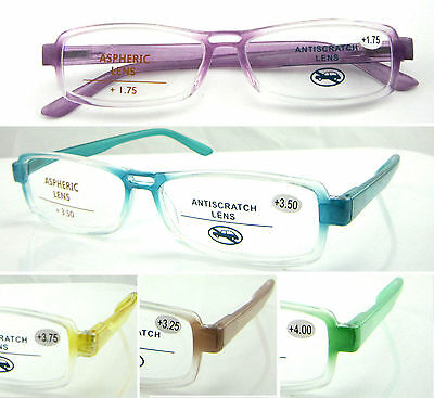L349 High Quality Reading Glasses/Spring Hinges/Clear jelly color Design/Fashion