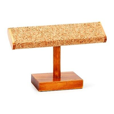 "NEW STANDING CORK & WOOD BRACELET DISPLAY for JEWELRY BEAUTIFUL FORM 7.25""X 4.5"""