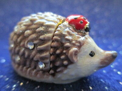 Harry  The Hedgehog  Lady Friend ~Jeweled & Enamel Trinket Box ~ Miniature 61172