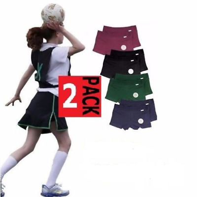 Rio 2 Pack Girls Netball Knickers Black Navy Shorts Underwear School + Tracking