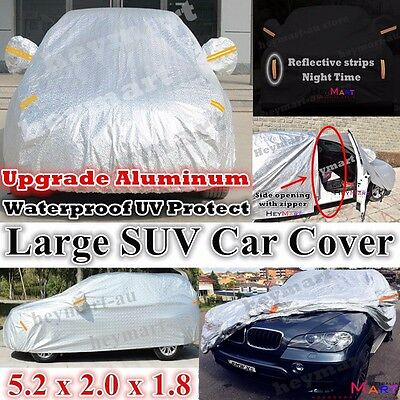 SUV waterproof Double thicker car cover rain resistant heavy duty car cover SUV