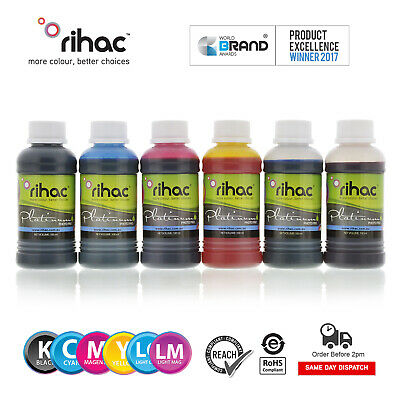 RIHAC Refill ink suits Epson 82n cartridges C M Y K LC LM for inkjet 6 x 100ml