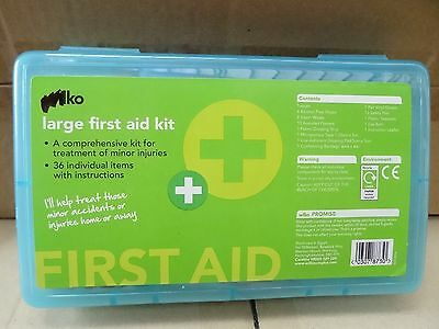 Large First Aid Kit (36 pcs) for home or travel Now only £4.49