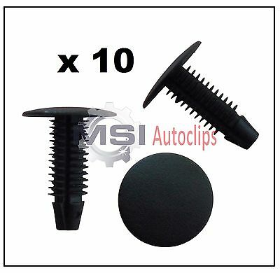 10x VOLVO 24MM BUTTON HEAD FIT TRIM PANEL FIR TREE PUSH-IN 7MM HOLE CLIPS