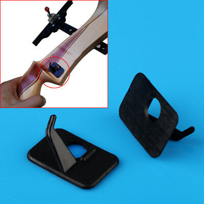 12 x Black Plastic Right Hand Bow Arrow Rest Replacement for Recurve Bow