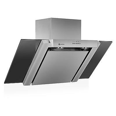90cm Mounted Cooker Hood with Extraction mode By Klarstein Black Glass Chimney