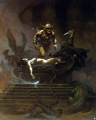 Authentic Frank Frazetta Print SACRIFICE #113  17X21