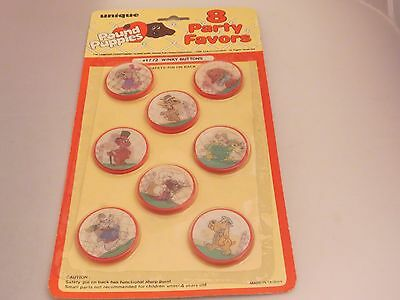 "Vintage Pound Puppies Party Pins ""Winky Buttons"" MIP"