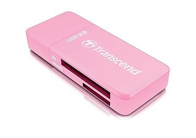 Transcend RDF5 USB 3.0 SD / SDXC / micro SDHC/SDXC UHS-I Memory Card Reader-Pink
