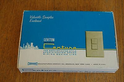 LEVITON VTG 60's Centura Sample Pack Switch + Outlet & 1968 Catalog
