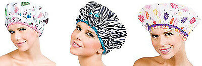 Betty Dain Shower Cap Fashionista Collection (Diva & Sassy Stripe) & The Hipster