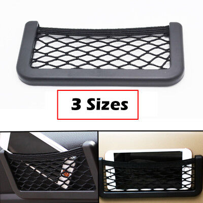 Car String Bag Vehicle Storage Mesh Phone Pocket Seat Side Storage Organizer