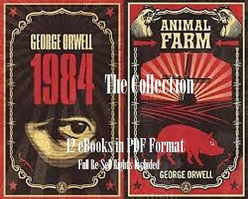CD - George Orwell Collection - 1984 - 12 eBooks with Resell Rights