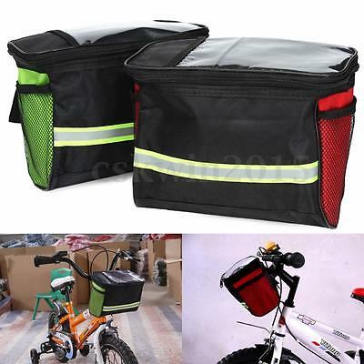 NEW Bike Bicycle Front Pannier Bag Basket Mountain Cycling Handlebar Frame Pouch