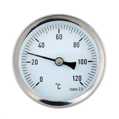 Dial Thermometer Liquid Temperature Meter Gauge 0-120°C Horizontal Mounting IF6A