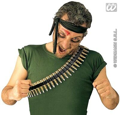 Cheap Lightweight PVC Bullet Belt Strip Army Mexican military style Fancy Dress