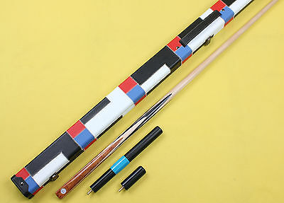 High Quality One 1Piece Handmade Maple Shaft Snooker/Pool Cue+Case+Extension