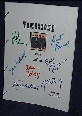 Movie Script - Cast Signed - Tombstone - Kurt Russell