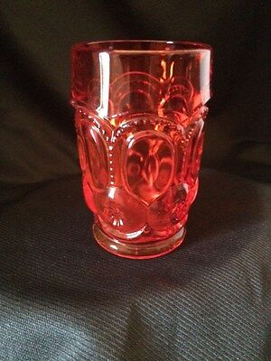 Lg Wright Moon And Stars Amberina Set Of 3 Footed Water Tumblers