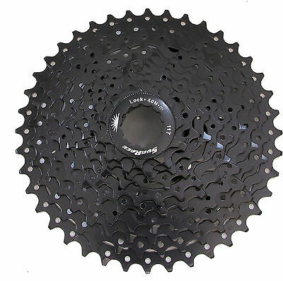 SunRace CSMS3 11-40T 10 Speed Wide Ratio Cassette, ED Black, New In Box