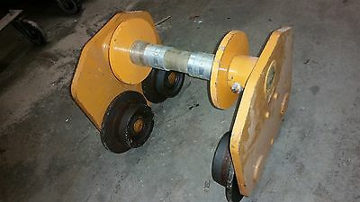 HARRINGTON pt050 BEAM PUSH TROLLEY 5 TON FOR CHAIN HOIST WINCH CRANE 12""