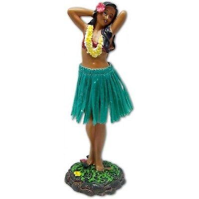 Hawaiian Dashboard Doll Leilani Girl Posing Green