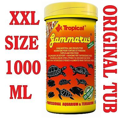 GAMMARUS Dried Food Freshwater Shrimps for Aquatic Turtles & Fish 1000ML/120G