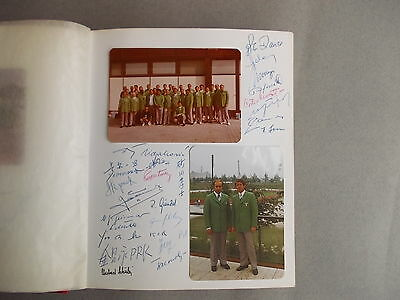 Olympiade volleyball 1972 Photo Album contains Olympic champions,some autographs