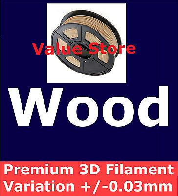 1x Wood 3D Filament 1Kg 1.75mm Variation/Roundness +/- 0.03mm By Express Post