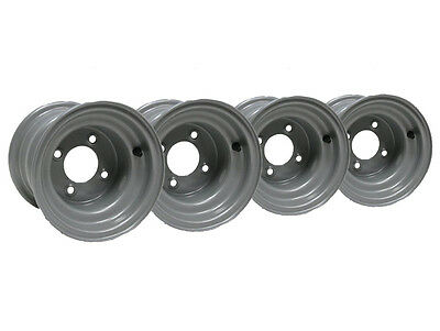 "Four - 8"" inch wheel rim ride on lawnmower quad bike 7.00x8 4 stud 100mm spacing"