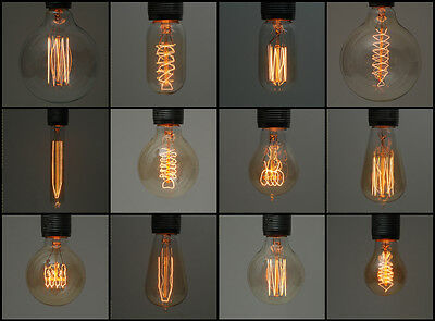 Vintage Industrial Style Filament Edison Light Bulbs | E27 es Screw Lamp | 40w