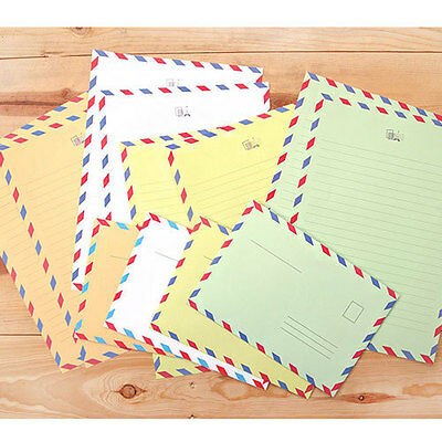 Colorful Air mail Pattern Letter set 4sh Writing Stationery Paper 2sh Envelope