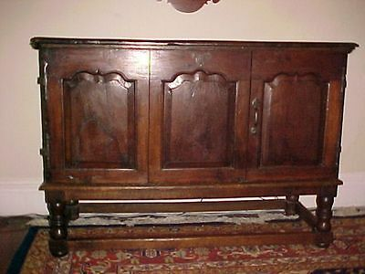 Antique French Chestnut Chest C. 1650