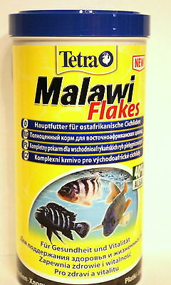 Tetra*Malawi flakes* food for all  Cichlids with spirulina 100,250ml,1L