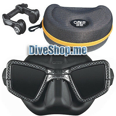 OMER UP-M1C Umberto Pelizzari Carbon Mask with Nose Clip UP-NC1