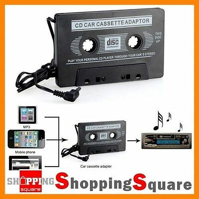 Car Tape Cassette AUX Audio Adapter 3.5mm Converter For iPhone iPod MP3 Player