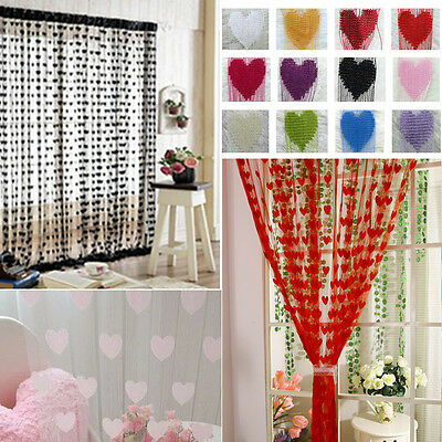 Heart Line String Tassel Drape Curtain For Vestibule Wall Door Window
